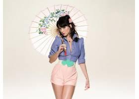 音乐,凯蒂,梨酒,歌手,妇女,黑发女人,蓝色,眼睛,歌手,短裤,口红,
