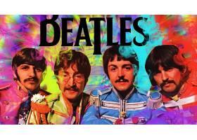 音乐,这,甲壳虫乐队,带,(音乐),王国,艺术的,彩色,富有色彩的,壁