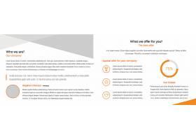 商务通用时尚简洁宣传折页模板图片