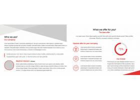 商务通用宣传折页模板图片