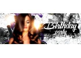 个性时尚女性生日派对主题海报设计