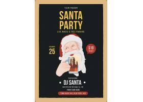 复古圣诞老人主题海报设计