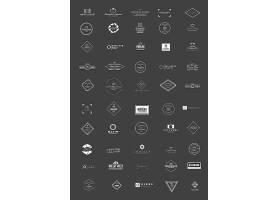 白色灰底简洁欧式英文主题LOGO徽章图标设计