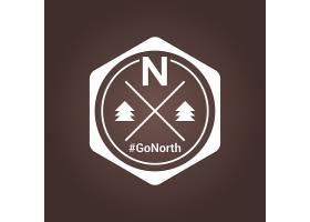简洁欧式单色露营森林野外主题LOGO图标设计