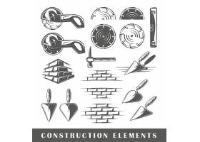 房屋装修施工工具图标设计