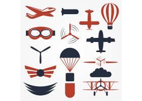 航空与飞行主题图标LOGO徽章标志设计