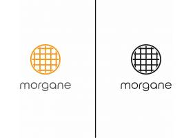 圆形时尚简洁线条排列重做主题图标LOGO设计