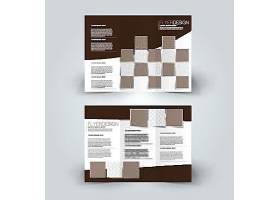 商务通用几何图形组合宣传三折页模板