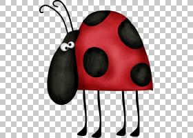 红色背景,红色,鼻部,免费赠送,绘图,动画片,瓢虫,甲虫,七星瓢虫,