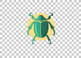青蛙卡通,黄色,绿色,青蛙,圣甲虫,昆虫,CDR,瓢虫,圣甲虫,粪甲虫,