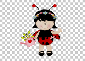瓢虫画画虫童艺术,聚会,漫画,七星瓢虫,数字艺术,儿童艺术,昆虫,