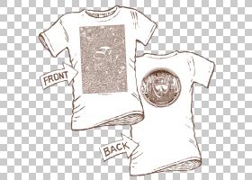 T恤服装,脖子,绘图,线路,关节,顶部,文本,白色,T恤衫,服装,大众汽