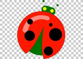 圆叶,红色,圆,微笑,水果,叶,昆虫,光栅图形,CDR,七星瓢虫,瓢虫,甲