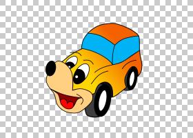 汽车卡通,微笑,车辆,模型车,笑脸,表情符号,黄色,漫画书,连环画连