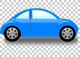 城市卡通,大众新款甲壳虫,保险杠,电蓝,车门,城市汽车,大众汽车,