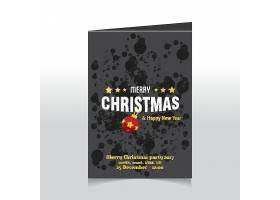 新年快乐圣诞节平安夜装饰标签设计