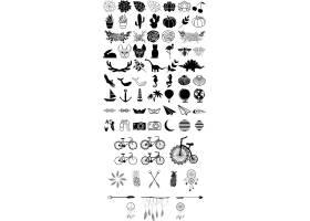 多款动物植物日常物品组合UI图标设计