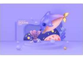 世界海洋illustration模板