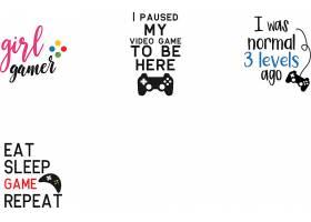 个性艺术英文字体游戏机主题标签设计