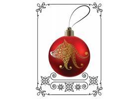 红色圣诞球