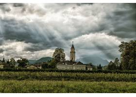 宗教的,教堂,教堂,建筑物,阳光,云,壁纸,(1)
