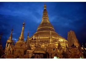 宗教的,Shwedagon,宝塔,缅甸,仰光,壁纸,(1)