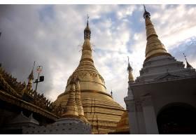 宗教的,Shwedagon,宝塔,缅甸,仰光,壁纸,(2)