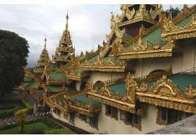 宗教的,Shwedagon,宝塔,缅甸,仰光,壁纸,(3)