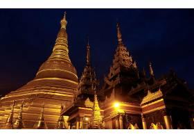 宗教的,Shwedagon,宝塔,缅甸,仰光,壁纸,