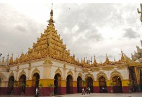 宗教的,Mahamuni,宝塔,缅甸,壁纸,