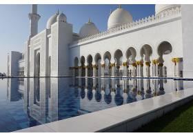 宗教的,清真寺,清真寺,一致的,阿拉伯人,阿联酋航空公司,反射,圆