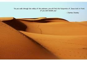 宗教的,引用,基督教的,耶稣,沙漠,脚印,宗教,沙,消息,壁纸,