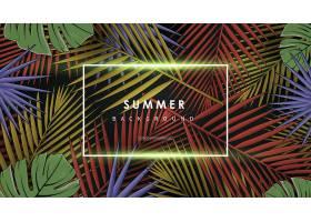 夏日植物叶子棕桐叶元素主题花纹底纹装饰背景
