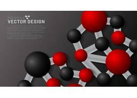红黑色科研元素主题花纹底纹装饰背景