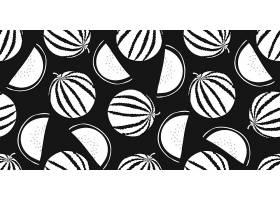 黑白西瓜主题花纹底纹装饰背景