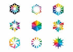 炫彩彩虹色形象LOGO图标设计