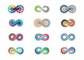 扭动线条形象LOGO图标设计