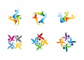 多彩的运动会形象LOGO图标设计