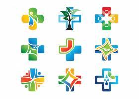 十字架医疗卫生形象LOGO图标设计