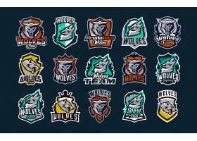 多款动物头像融合徽章形象LOGO图标设计