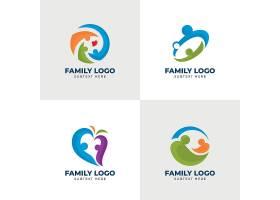 家庭和谐幸福形象LOGO图标设计