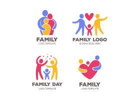 幸福家庭形象LOGO图标设计