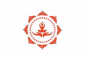 瑜伽形象LOGO图标设计