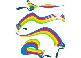 彩虹色刷子形象LOGO图标设计