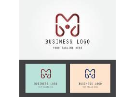 字母M形象LOGO图标设计