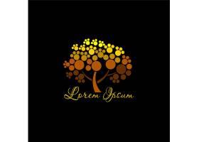 黑金树形象LOGO图标设计