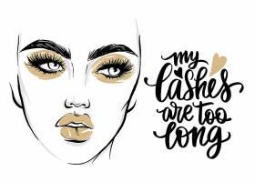 高清时尚潮流女人和化妆概念图