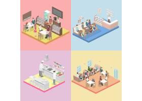 人物生活场景模拟主题矢量元素矢量素材设计