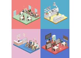 场景模拟主题矢量元素矢量素材设计