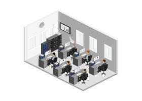 商务办公场景模拟主题矢量元素矢量素材设计
